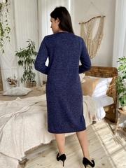 Даяна. Практичное повседневное платье больших размеров. Синий