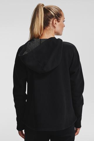 Женское черное худи Recover Fleece FZ Hoodie Under Armour