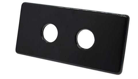 Двойная маскирующая розетка 150/70 L50 Ral 9005 с двумя трубками латунь, длина 80 мм