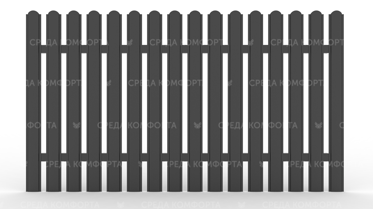 Забор из евроштакетника ZBR0047