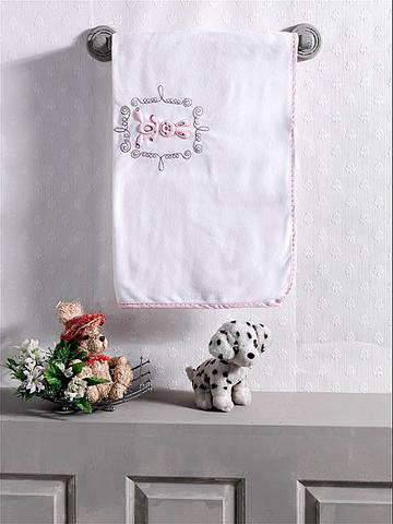 "Плед флисовый ""Rabbito"", 100% полиэстер, размер 80*120 см (pink)"