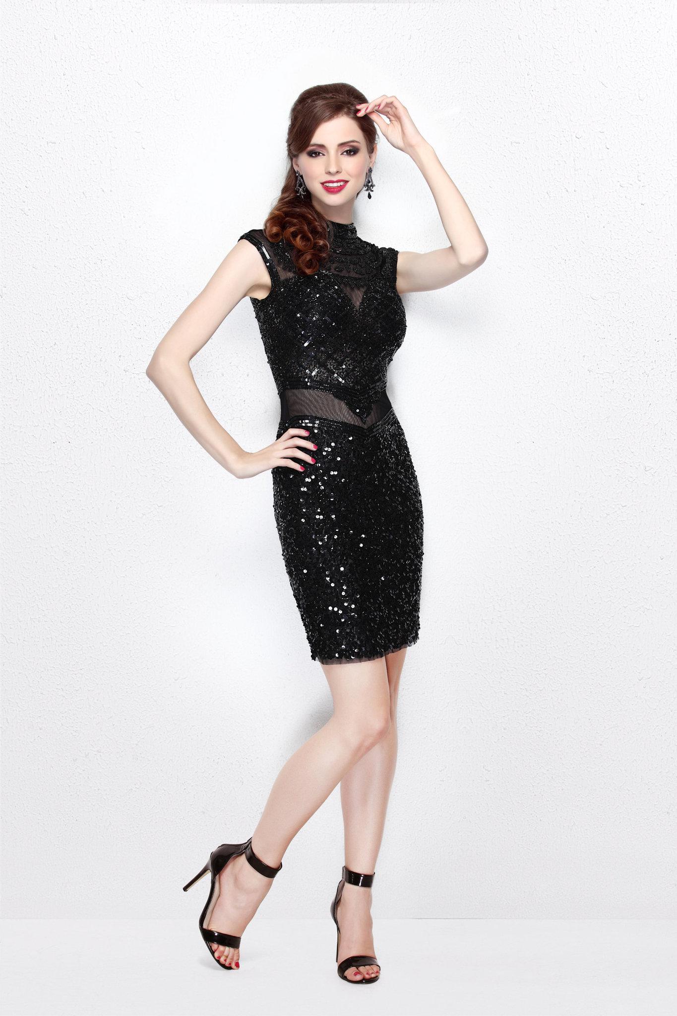 Коктейльное черное платье Etelle 16621