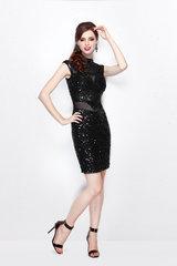 Коктейльное черное платье Etelle
