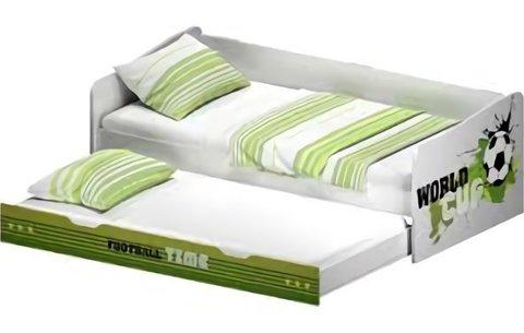 Кровать детская выдвижная Polini kids Fun 4200 Футбол, зеленый