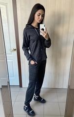 Исида. Прогулочный спортивный костюм из ангоры. Чёрный