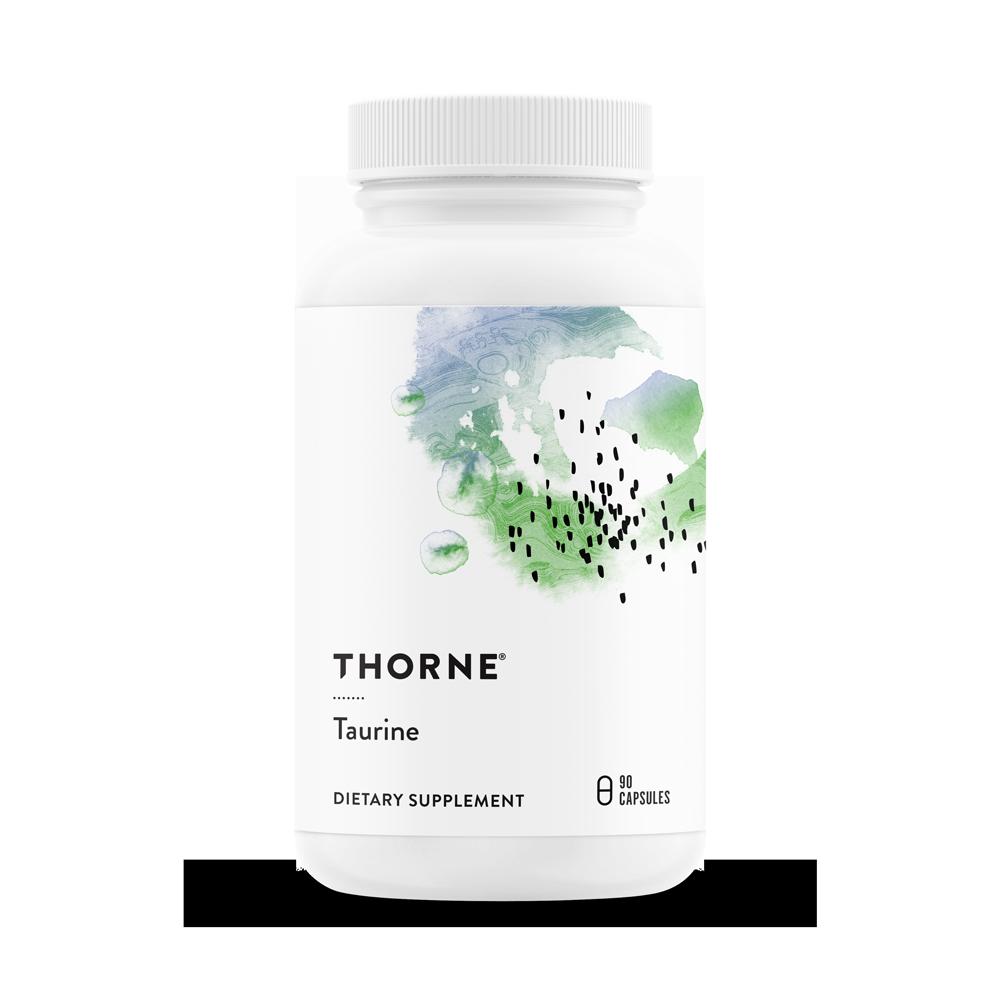Таурин, Taurine (500 MG), Thorne Research, (90 капсул)