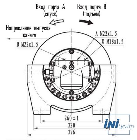 Эвакуационная лебедка IYJ2.52.5-30-72-13-ZPNL