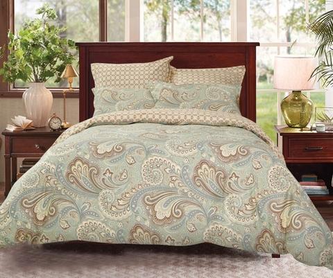 Сатиновое постельное бельё  2 спальное  В-188