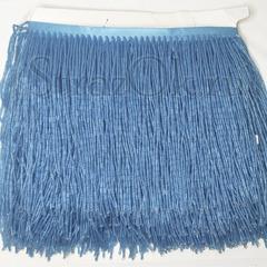 Купить оптом бахрому из стекляруса голубую Blue Sky