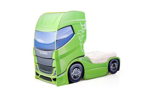 """Кровать-грузовик """"Скания+1"""" лайм"""