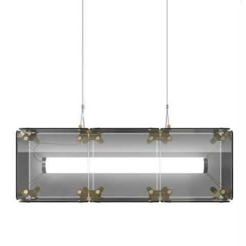 Подвесной светильник копия Hyperqube by Felix Monza (3 плафона, дымчатый)