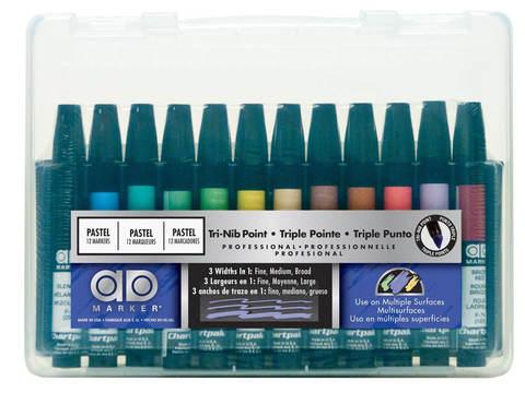 Набор маркеров CHARTPAK PASTELS Plastic box, пастельные тона, 12 цветов