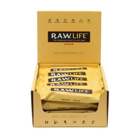 Батончик натуральный R.A.W. LIFE Yellow Кешью коробка 20 шт.
