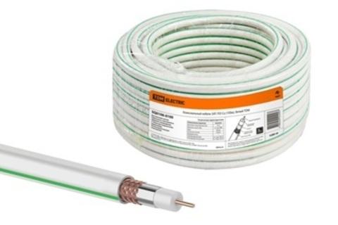 Коаксиальный кабель SAT-703 Cu (100м), белый TDM