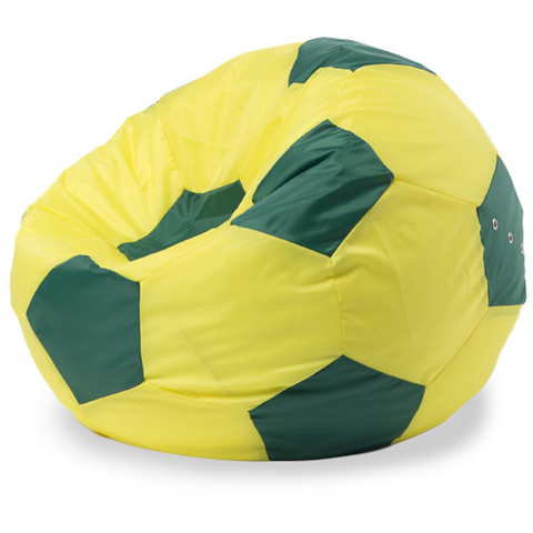 Кресло-мешок мяч XL, Оксфорд Желтый и зеленый
