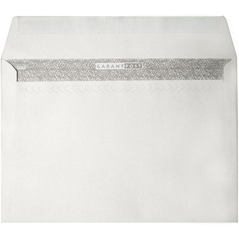 Конверт Garantpost C4 100 г/кв.м белый стрип с внутренней запечаткой (250 штук в упаковке)