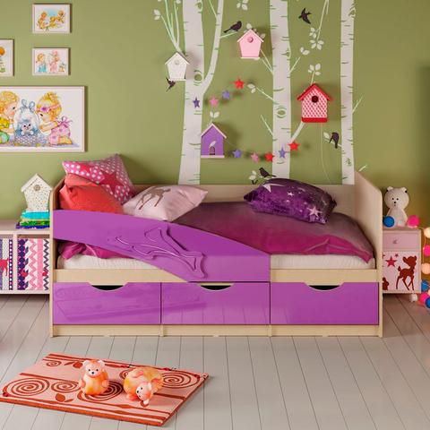 Кровать Дельфин фиолетовый