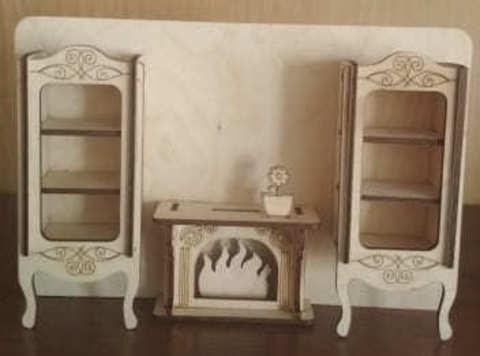 Мебельная стенка с камином