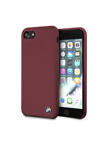 BMW / чехол для телефона iPhone 7/8/SE 2020 | Signature Liquid silicone Hard Red