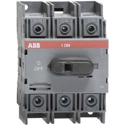 Выключатель нагрузки-рубильник до 100 A, 3-полюсный OT100F3. ABB. 1SCA105004R1001