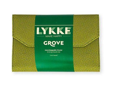Набор бамбуковых разъемных спиц Lykke Green Basketweave Effect 11,5 см