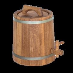 Дубовая бочка конусная для алкоголя, 3 литра, фото 1