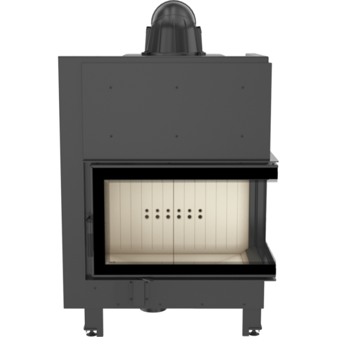 Каминная топка Kratki MBO/P/BS/SG (гнутое стекло) (15 кВт)