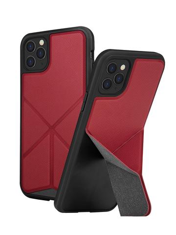 Чехол Uniq Transforma для iPhone 11 Pro | с раскладной магнитной подставкой красный