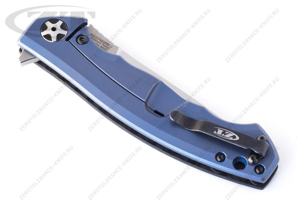 Нож Zero Tolerance 0452CFМ390BLU First 3 Sinkevich - фотография