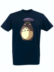 Футболка с принтом Мой сосед Тоторо (Totoro) темно-синяя 008