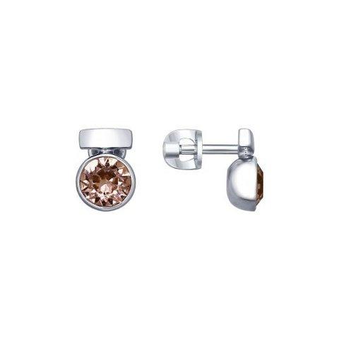 94022601 - Серьги-пусеты из серебра со SWAROWSKI