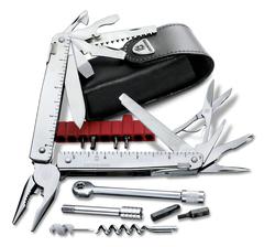 Мультитул Victorinox SwissTool X Plus Ratchet, 115 мм, 40 функций, кожаный чехол*