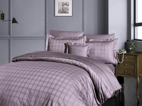 Комплект постельного белья DO&CO Сатин  жаккард  EXCLUSIVE 200*220 (50*70/2) (70*70/2) 250TC ELOY цвет лаванда