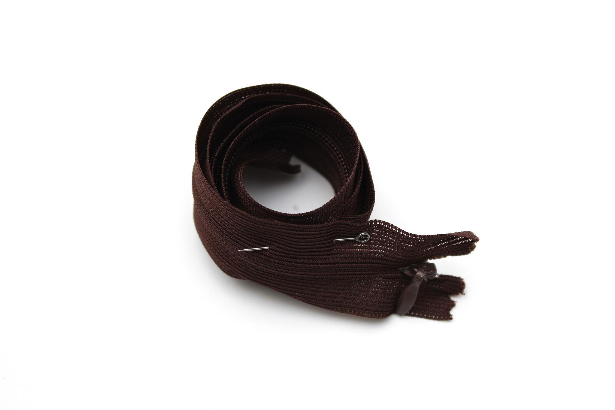 Потайная молния,50см(коричневая)