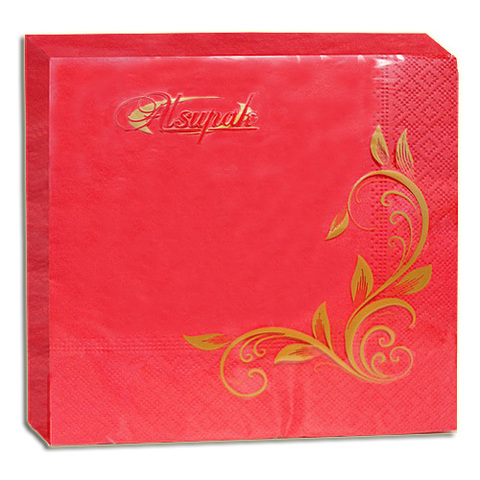 Салфетки 33х33 см красные двухслойные 20 шт.