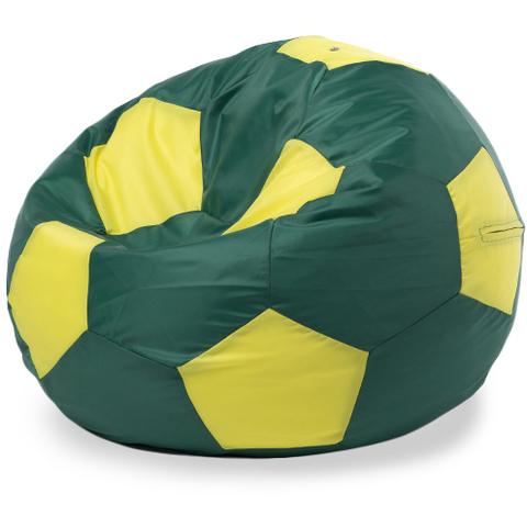 Кресло-мешок мяч XL, Оксфорд Зеленый и желтый