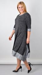 Адажио. Чарівна сукня великих розмірів. Графіт.