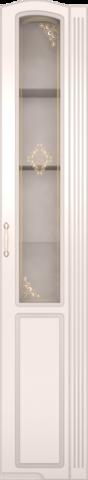 Шкаф-пенал правый со стеклом Виктория 32 Ижмебель белый глянец