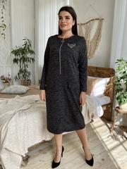 Даяна. Практичне повсякденне плаття великих розмірів. Чорний