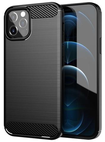 Защитный чехол черного цвета на iPhone 12 и 12 Pro, серия Carbon от Caseport