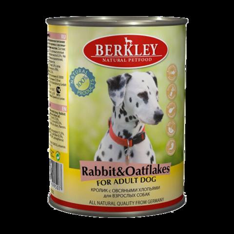 Berkley № 4 Консервы для собак с кроликом и овсяными хлопьями (Банка)