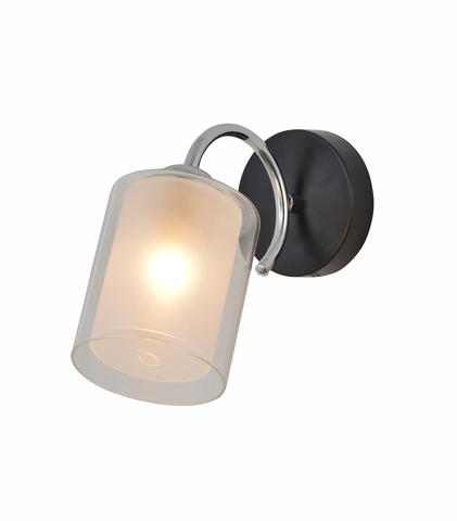 Настенный светильник Escada 1170/1A E27*60W Chrome/Black