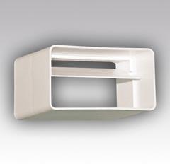 Соединитель-муфта с обратным клапаном 110х55 мм пластиковый