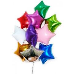 Фольгированные шары звезды без рисунка ассорти