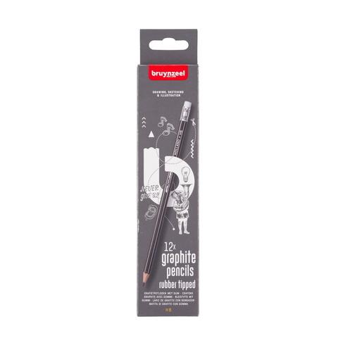Набор чернографитных карандашей Bruynzeel 12 карандашей HB в картонной упаковке