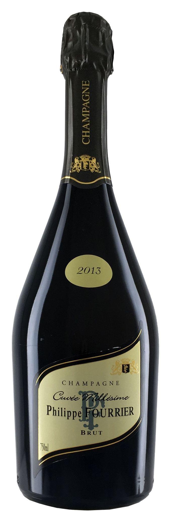 Шампанское Филипп Фурье Миллезим 2013 брют белое з.н.м.п регион Шампань 0,75л.