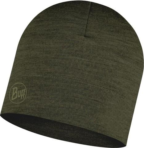 Тонкая шерстяная шапка Buff Hat Wool Iightweight Solid Bark фото 1