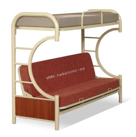 Диван-кровать судовая металлическая 2-х ярусная - фото