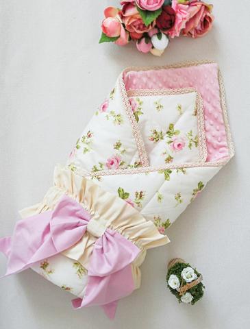 Одеяло - конверт на выписку Шебби