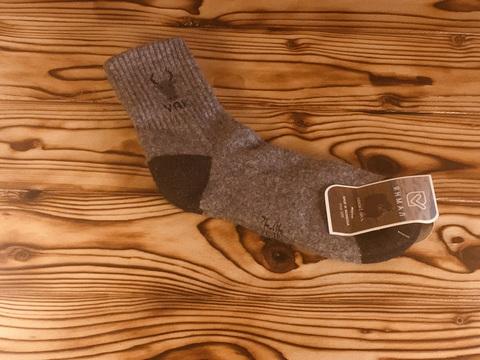 Носки из  шерсти яка / р. 40-42 (Темно-серые) фото1
